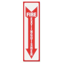 "Glow In The Dark Sign 4 ""x 13"" Red Glow Fire Extinguisher (USS4793)"