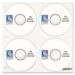 CDDVD Refillable D-Ring Binder Kit Holds 80 Disks Black (CLI61938)
