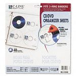 Two-Sided CDDVD Refill Pages for Ring Binder Kit Pack of 5 (CLI61948)