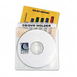 Two-Sided CDDVD Sleeves for Standard Storage Cases Box of 50 (CLI61988)