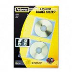 CDDVD Protector Sheets for Three-Ring Binder Pack of 10 (FEL95304)