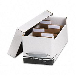 Corrugated Media File Holds 125 Diskettes35 Standard Cases (FEL96503)
