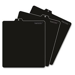 "A-Z CD File Guides 5"" x 5 34"" Black (IDEVZ01176)"