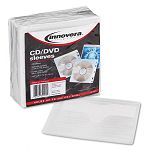 Two-Sided CDDVD Sleeves for Ring Binder Pack of 100 (IVR39401)