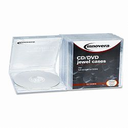 CDDVD Standard Jewel Case Clear Pack of 10 (IVR81810)