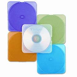 TRIMpak CDDVD Case Assorted Colors Pack of 10 (VER93804)