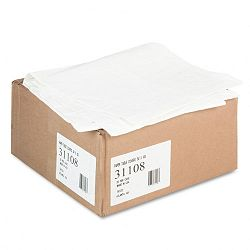 "Paper Table Cover Embossed wPlastic Liner 54"" x 108"" White Carton of 20 (TCO31108)"