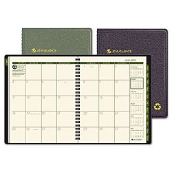 "Recycled Monthly Planner Black 6 78"" x 8 34"" (AAG70120G05)"