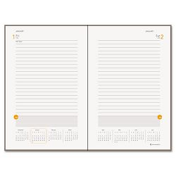"One-Day-Per-Page Planning Notebook Gray 6"" x 9"" (AAG70620130)"