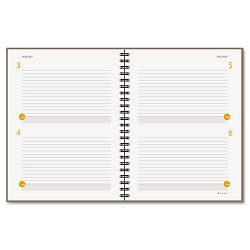 "Two-Days-Per-Page Planning Notebook Gray 8 12"" x 11"" (AAG80620430)"