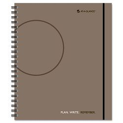 "Planning Notebook With Reference Calendar Gray 9 14"" x 11"" (AAG80620930)"