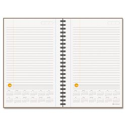 "Planning Notebook With Reference Calendar Orange 6"" x 9"" (AAG80621034)"