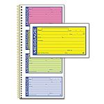 Wirebound Telephone Message Book Two-Part Carbonless 200 Forms (ABFSC1153RB)