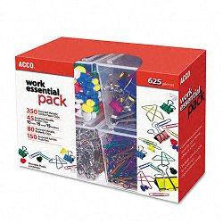 Club Clip Pack 80 Ideal 45 Binder 350 Jumbo Paper Clips 150 Push Pins (ACC76233)