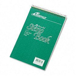 "Envirotec Recycled Steno Book Gregg Rule 6"" x 9"" White 80 Sheets (AMP25774)"