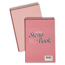 "Pastel Steno Book Gregg Rule 6"" x 9"" Dusty Rose 80 Sheets Pack of 4 (AMP45289R)"
