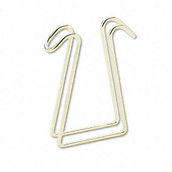 "Coat Clip Double-Sided Hook 2 34"" x 4 34"" Polished Brass (AOPT1309)"