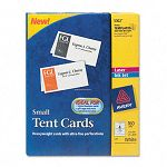"Tent Cards White 2"" x 3-12"" 4 CardsSheet 160 CardsBox (AVE5302)"
