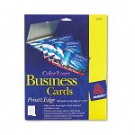 "Laser Business Cards 2"" x 3 12"" White Uncoated 8Sheet Pack of 160 (AVE5881)"