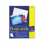 "Laser- and Inkjet-Compatible Postcards 4"" x 6"" Two per Sheet Pack of 80 (AVE5889)"