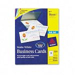 "Inkjet Matte Business Cards 2"" x 3 12"" White 10Sheet Box of 1000 (AVE8471)"