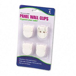 Panel Wall Clips for Fabric Panels Standard Size White Pack of 4 (AVT75300)