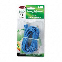CAT5e Snagless Patch Cable RJ45 Connectors 14 ft. Blue (BLKA3L79114BLUS)