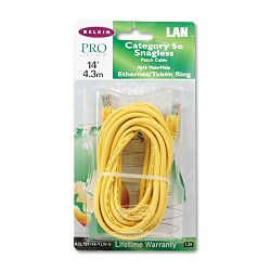 CAT5e Snagless Patch Cable RJ45 Connectors 14 ft. Yellow (BLKA3L79114YLWS)