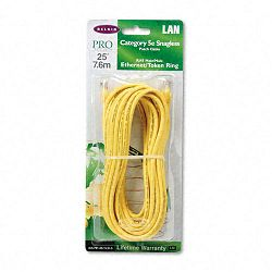 CAT5e Snagless Patch Cable RJ45 Connectors 25 ft. Yellow (BLKA3L79125YLWS)
