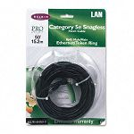 CAT5e Snagless Patch Cable RJ45 Connectors 50 ft. Black (BLKA3L79150BLKS)