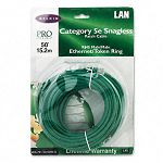 CAT5e Snagless Patch Cable RJ45 Connectors 50 ft. Green (BLKA3L79150GRNS)
