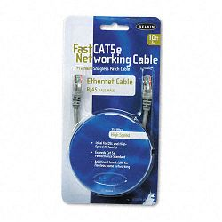 FastCAT 5e Snagless Patch Cable RJ45 Connectors 10 ft. Gray (BLKA3L85010S)