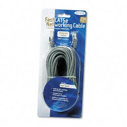 FastCAT 5e Snagless Patch Cable RJ45 Connectors 25 ft. Gray (BLKA3L85025S)