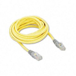 CAT5e Crossover Patch Cable RJ45 Connectors 10 ft. Yellow (BLKA3X12610YLWM)