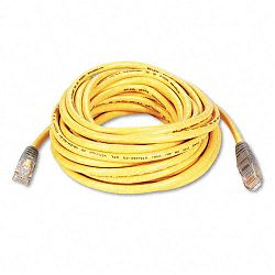 CAT5e Crossover Patch Cable RJ45 Connectors 25 ft. Yellow (BLKA3X12625YLWM)