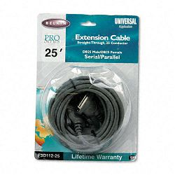Pro Series Straight-Through Extension Cable DB25FDB25M 25 ft. (BLKF3D11225)