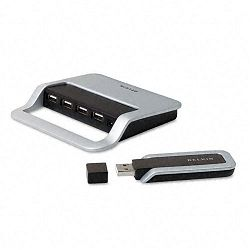 Cable-Free USB Hub Up to 480MBps for USB 2.0 Devices (BLKF5U301)