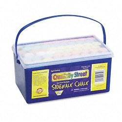 "Sidewalk Chalk 4"" x1 Dia. Jumbo Stick 12 Assorted Colors 52 PiecesEach Case (CKC1752)"