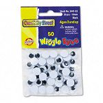 Round Black Wiggle Eyes 10mm Black Pack of 50 (CKC344102)