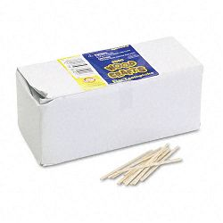 Flat Wood Toothpicks Wood Natural Wood Pack of 2500 (CKC369001)