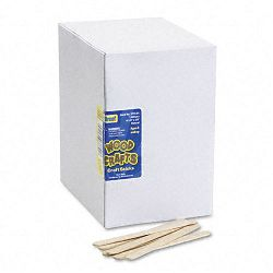 "Natural Wood Craft Sticks 4 12"" x 38"" Natural Wood Box of 1000 (CKC377401)"