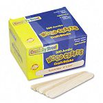 "Natural Wood Craft Sticks Jumbo Size 6"" x 34"" Wood Natural Wood Box of 500 (CKC377601)"