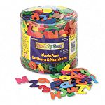 Wonderfoam Letters and Numbers 12 Lb. Tub Approximately 1500 Pieces (CKC4304)