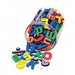 Wonderfoam Magnetic Alphabet Letters Assorted Colors Pack of 105 (CKC4357)