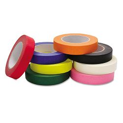 "Colored Masking Tape Classroom Pack 1"" x 60 yards Assorted 8 RollsPack (CKC4860)"
