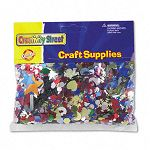 Glittering Confetti Assorted ColorsSizes Resealable 4 oz Pack (CKC611200)