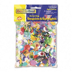 Sequins & Spangles Assorted Metallic Colors 4 ozPack (CKC6114)