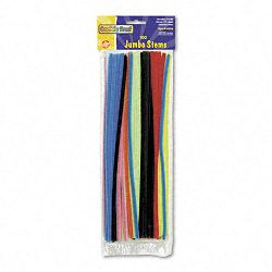 "Jumbo Stems 12"" x 6mm Metal Wire Polyester Assorted Pack of 100 (CKC711001)"