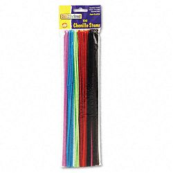 "Regular Stems 12"" x 4mm Metal Wire Polyester Assorted Pack of 100 (CKC711201)"