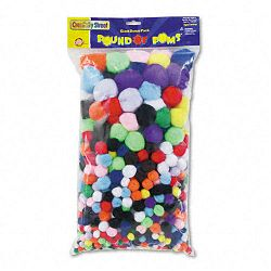 Pound of Poms Giant Bonus Pack Assorted Colors 1 lbPack (CKC818001)